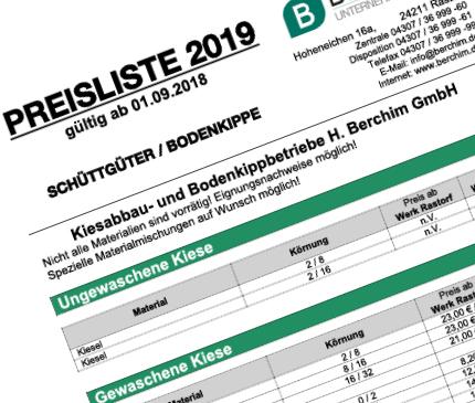 Beliebt Neue Preisliste online! - Berchim Unternehmensgruppe : Berchim LV06
